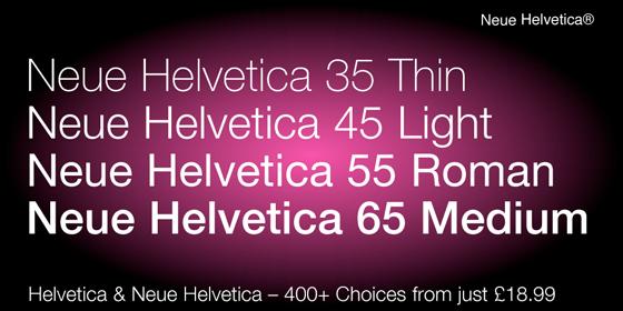 Neue Helvetica - Fontshop