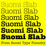 STF Suomi Slab font family
